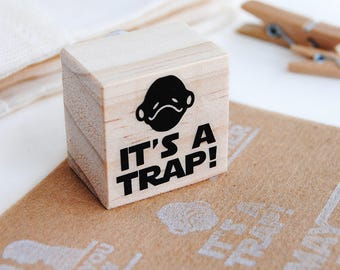 IT'S A TRAP Admiral Ackbar stamp, Star Wars admiral Akbar stamp, It's a trap Star Wars, It's a trap stamp, star wars wrapping paper, geeky