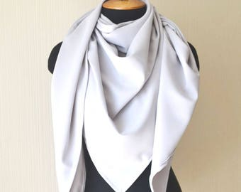 Gray scarf Womens scarves Wife gift Scarf shawl Womens gift Oversize scarf Ladies scarves Wedding shawl Fashion scarf Gift accessories