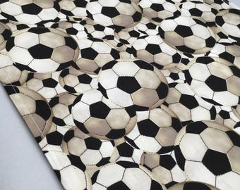 Soccer Table Runner or Accent Table Mat: Ideal for a Soccer Party or European Football party