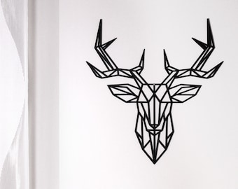 3D Printed Low Poly Deer Head Wall Decoration