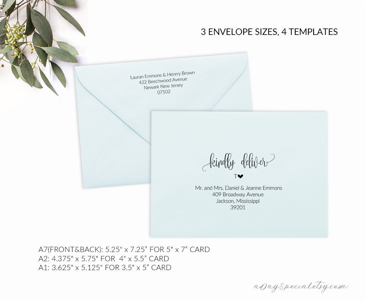 a1 envelope template - Military.bralicious.co