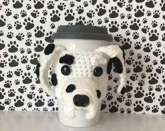 Crazy Dog Lady - Dalmatian - Dog Mom Mug (Cozy) - Coffee Mug Warmer - Hang With My Dog - Crochet Puppy - Fur Mama - I Love My Granddog