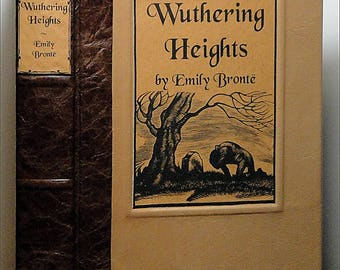 c.1960 ~ WUTHERING HEIGHTS ~ Emily Bronte, Restored & Rebound in Leather