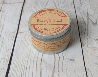 Fandom Candle ~ Beauty's Beast ~ Inspired by Beauty & The Beast the Fairy Tale ~ 8oz Soy Candle