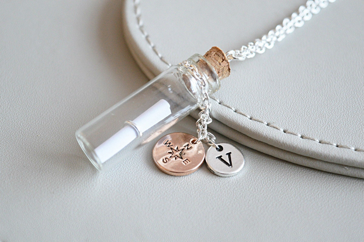 empty bottle necklace vial necklaceempty cylindrical
