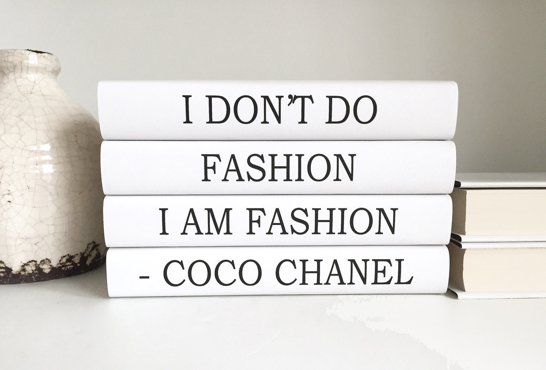 Fashion Book Cover Quotes : Fashion coco chanel books quote decorative
