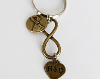 I Promise To Love You Forever. COUPLES KEYCHAIN. Love. Anniversary Gift. Pinky Promise. Wedding Gift. Infinity. Forever. Love Forever.