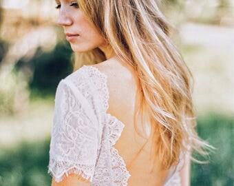 Yatana Gown / Bohemian Wedding Gown / Beach Boho Dress / Made to measure / Hippie Bohemian Romantic