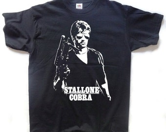 Cobra T-SHIRT Sylvesters Stallone // Crime Is A Disease...Meet The Cure // 80s Action
