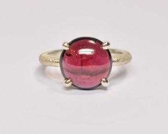 Goldring mit rotem stein  Red gemstone ring   Etsy
