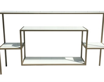 White Marble and Gold Console Table
