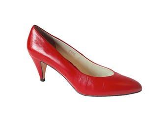 Red heels - Vintage – Etsy UK