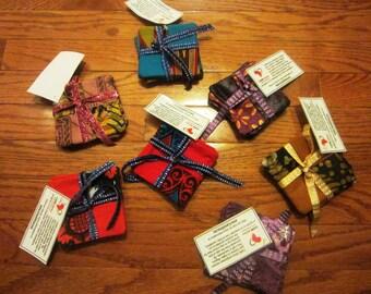 Coasters - Set of 4 - made of African Ankara