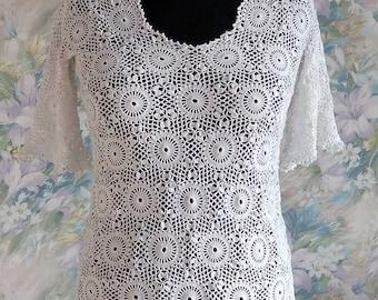 Openwork jacket \ handmade \ crochet