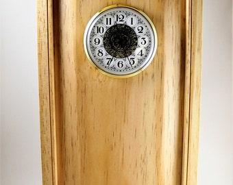 Pine Shaker style hanging wall clock