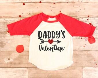 Daddyu0027s Valentineu0027s Day Red Sparkle Red Raglan Tee, Baby Girls Newborn  Valentines Day Shirt,