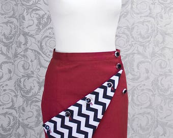 "Skirt, red, Mini-Skirt, Pencil skirt, Couture, inspired by "" Twin Peaks """
