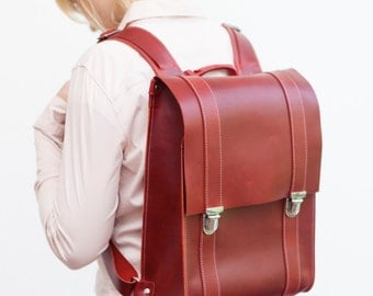 Leather Rucksack Backpack made of genuine leather, unisex