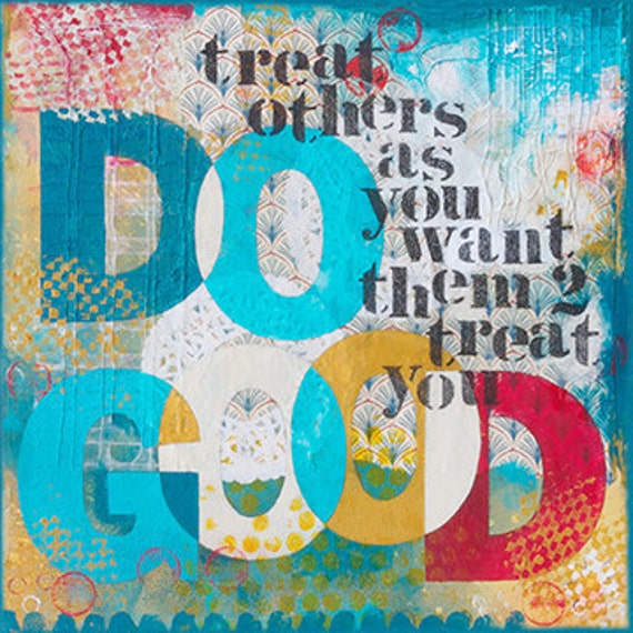 Do Good - Christain Word Art - Matted Giclee Print 8x8 on Luster Paper