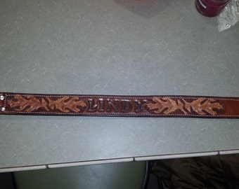 custom hand carved dog collar