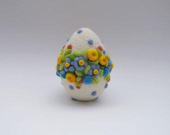 Egg Easter Gift Needle Felted Eggs Easter Egg Home Decor Flower Wreath Ornament