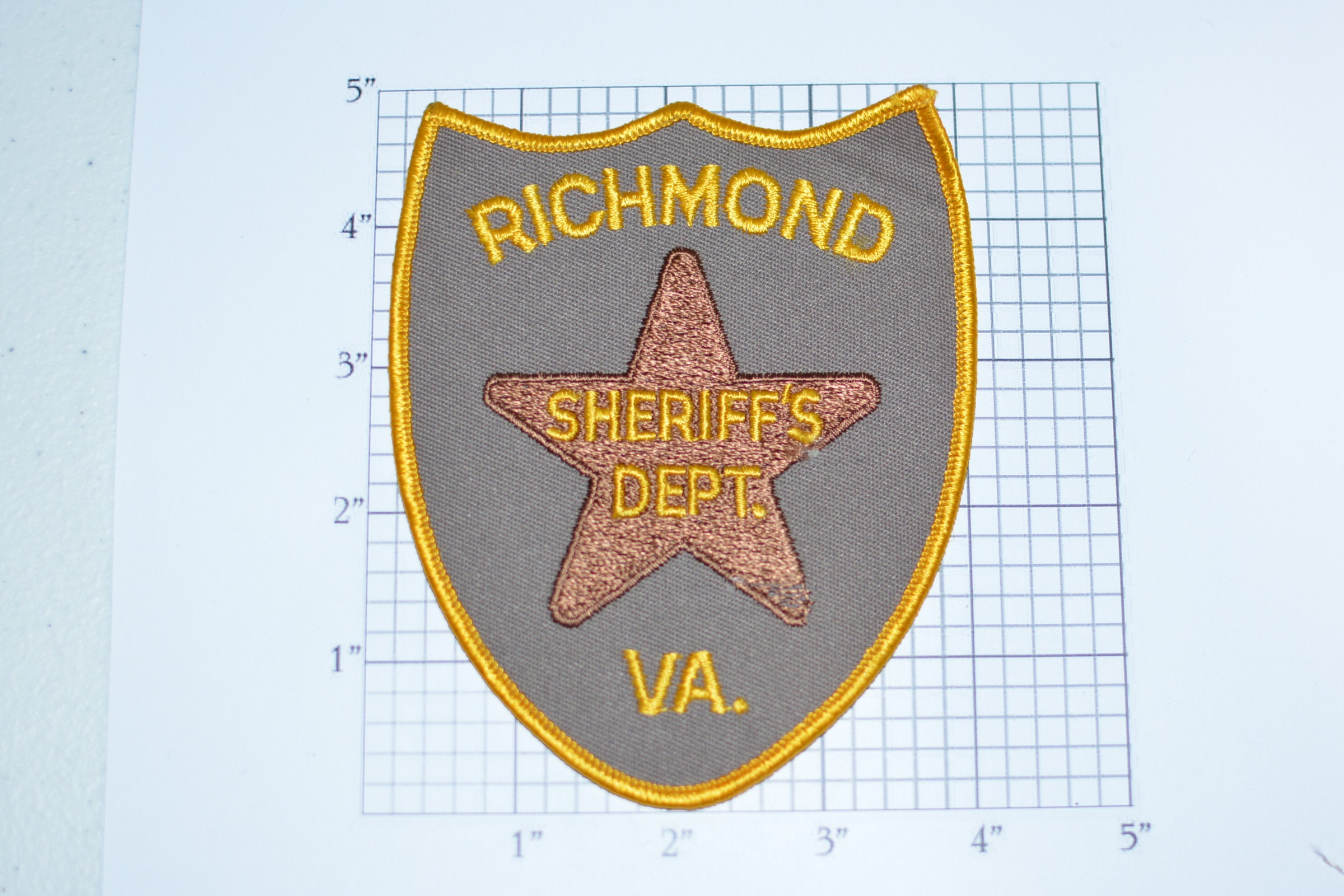 Richmond virginia sheriff s dept sew on embroidered patch