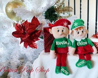 Elf, Personalized Elf, Stocking Stuffer, Christmas Gift, Girl Elf, Boy Elf, Personalized Christmas Gift, Elf Plush Toy, Custom Elf