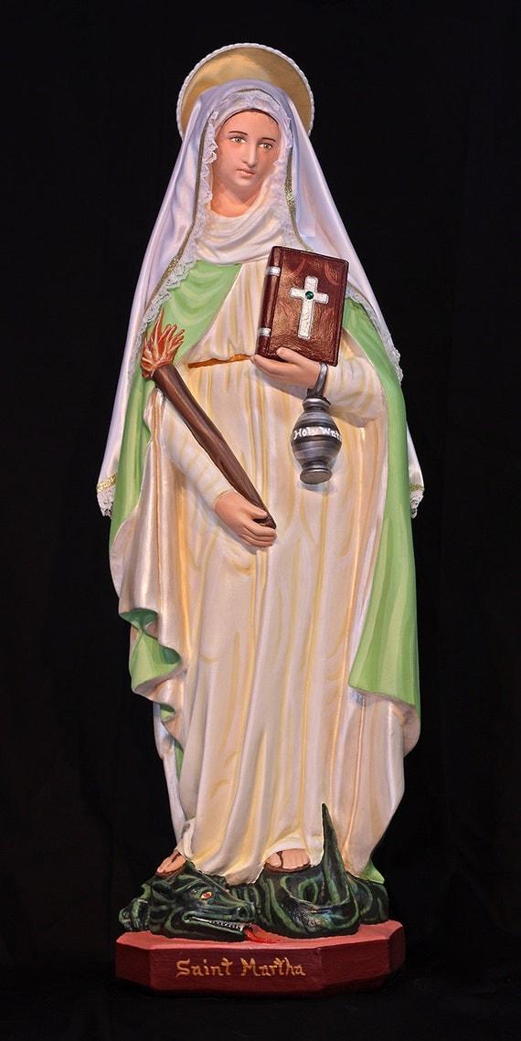 "St. Martha 26"" Catholic Christian Saints Plaster Statue Marta"