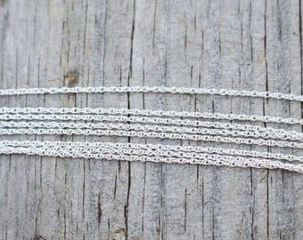 """30"""" Inch Shiny Sterling Silver Rope Chain"""