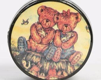 SALE!! - Vintage Teddy Bear Pill Box