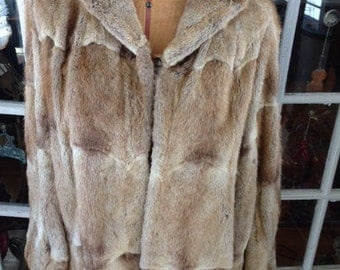 Blond mink cape/jacket