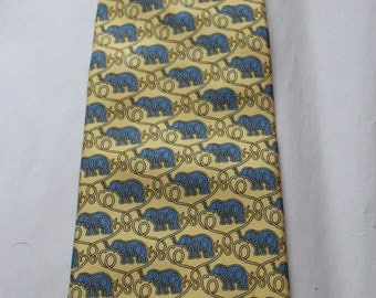 Tie  Lancel pattern elephant