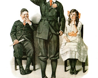 """The Valedictorian Post Cover Painted by Norman Rockwell in 1919. The page is approx. 11 3/4"""" wide and 15 inches tall"""
