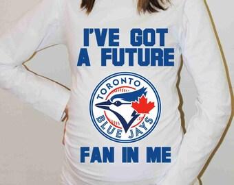 Toronto Blue Jays Shirt Toronto Blue Jays Baseball Long Sleeve Maternity Shirt Pregnancy Baby Shower