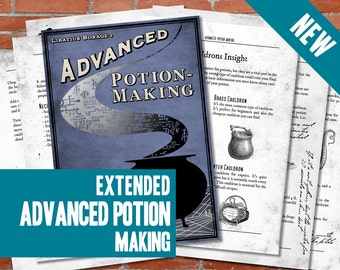 PRINTABLE Advanced Potion Making EXTENDED Edition - Harry Potter Print, Potion Book, Digital, Artwork, Gift