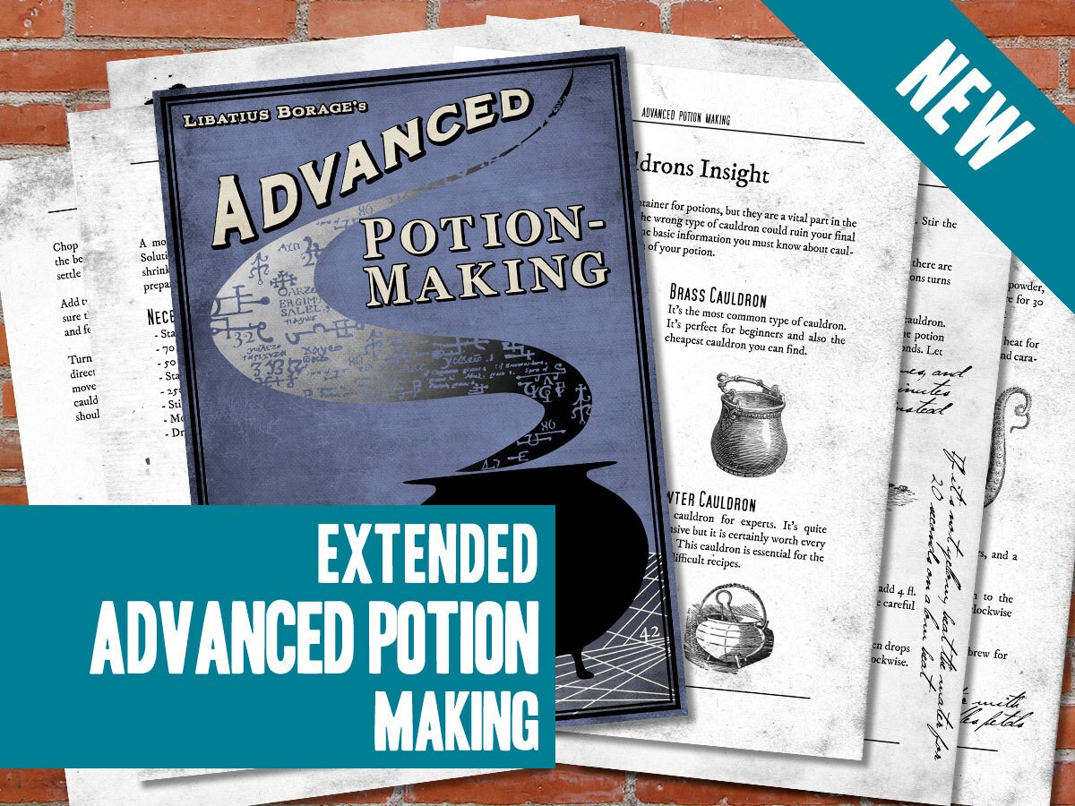 It is a photo of Impeccable Advanced Potion Making Printable