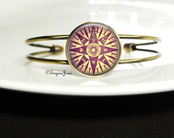 NEWS Compass Bracelet The Bahamas Traveling Jewely Travel Compass Bracelet Foreign Exchange Student Gift Traveler Student Abroad Study Gift