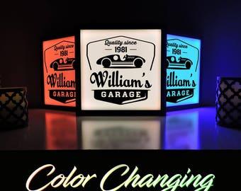 Custom Garage Sign, Garage Sign, Personalized Garage Sign, Man Cave Sign, Custom Workshop Sign, Gifts for Him, Custom Name Sign