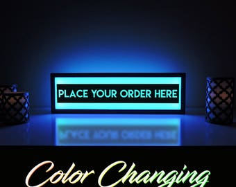 Place Your Order Here Sign, Place Your Order Here, Order Here Sign, Order Here, Restaurant Sign, Kitchen Sign, Cafe Sign, Light Up Sign