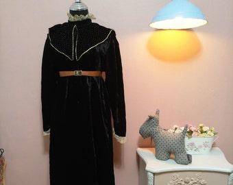 Midi Black Dress, Black dress, Dress, 60s Dress,Black Sophisticated Vintage Dress For Women 1960s, Midi Dress, Long sleeves Dress,Dress