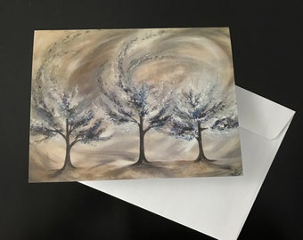 """Greeting Card by Meredith B Studios of the original painting """"Revival"""""""