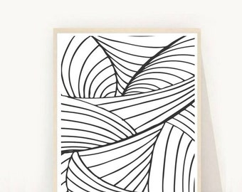 Black And White Art, Abstract Art Print,  Printable Wall Art, Op Art, Instant Download, Abstract Print, Wall Art, Home Decor, Wall decor,