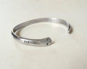 Stamped Snake Bracelet