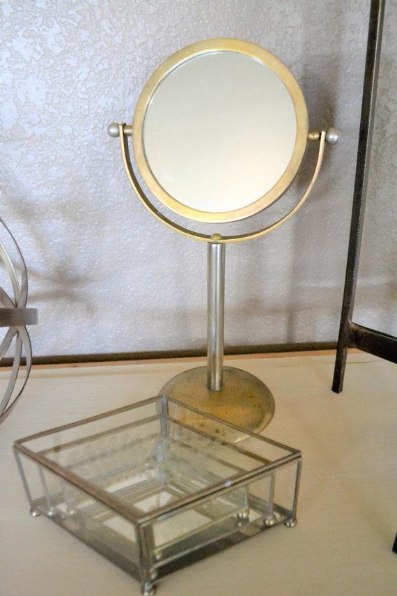 Brass Swivel Vanity Mirror Makeup or Shaving Mirror Mid – Brass Bathroom Mirror