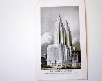 The Waldorf Astoria Postcard / Park  Avenue New York City Postcard / Richmond Postcard
