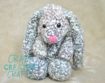 Crochet floppy stuffed bunny