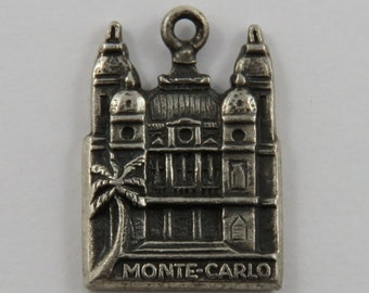RESERVED Casino de Monte-Carlo Silver Vintage Charm For Bracelet
