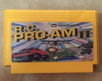 R.C. Pro-AM II 2 Custom Famicom 8bit Game.