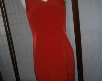 Women's Red Sheath Dress