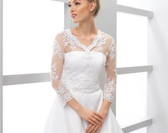 Bridal Lace Top, Wedding Top, Bridal Lace Top, Ivory Top, Bridal Cover Up, Wedding Separates